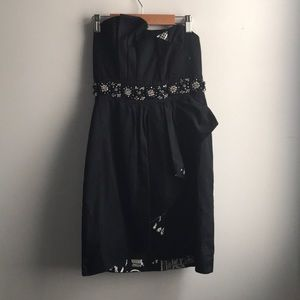 Lilly Pulitzer black embellished formal mini dress